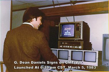 G. Dean Daniels signs on CMT, March 5, 1983